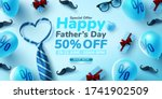 father's day sale poster or... | Shutterstock .eps vector #1741902509
