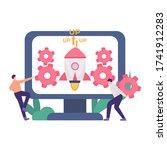 illustration of software...