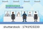 post quarantine. group of... | Shutterstock .eps vector #1741923233