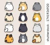 cat breed cute pet portrait... | Shutterstock .eps vector #1741926920