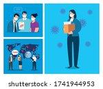 coronavirus  unemployment ...   Shutterstock .eps vector #1741944953