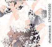 worn texture splatter surface.... | Shutterstock .eps vector #1741955030