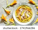 Asian Soup With Daylily Flowers ...