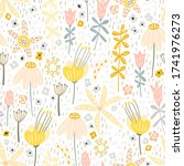 vector seamless pattern of wild ... | Shutterstock .eps vector #1741976273