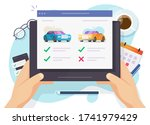 vehicle auto rental comparing... | Shutterstock .eps vector #1741979429