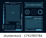 futuristic touch screen of user ...   Shutterstock .eps vector #1741985786