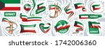 vector set of the national flag ... | Shutterstock .eps vector #1742006360