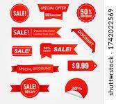 vector illustration set sale... | Shutterstock .eps vector #1742022569