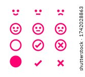 pink icon emotions face ... | Shutterstock .eps vector #1742028863