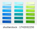 realistic sticky notes... | Shutterstock .eps vector #1742032250