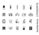 medical icons. illustration...   Shutterstock . vector #1742035976