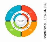 infographic circular chart... | Shutterstock .eps vector #1742037713