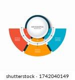 infographic semi circular chart ...   Shutterstock .eps vector #1742040149