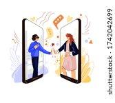 online friends support vector...   Shutterstock .eps vector #1742042699