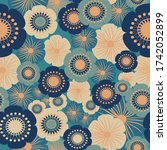 Abstract Floral Vector Seamless ...