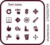 turn icon set. 16 filled turn... | Shutterstock .eps vector #1742053799