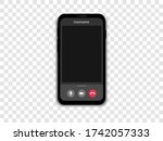 mockup video call on a... | Shutterstock .eps vector #1742057333