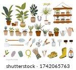 trendy scandinavian urban... | Shutterstock .eps vector #1742065763