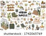 trendy scandinavian urban... | Shutterstock .eps vector #1742065769