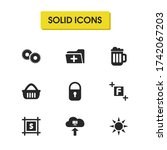 interface icons set with gears  ...
