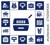 carrier icon set. 17 filled... | Shutterstock .eps vector #1742069303