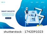 factory future concept. the... | Shutterstock .eps vector #1742091023