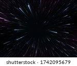 space speed. abstract starburst ... | Shutterstock .eps vector #1742095679