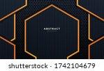 abstract 3d black technology...   Shutterstock .eps vector #1742104679