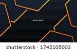 abstract 3d black technology...   Shutterstock .eps vector #1742105003