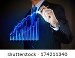 closeup image of businessman... | Shutterstock . vector #174211340