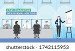 post quarantine. group of... | Shutterstock .eps vector #1742115953