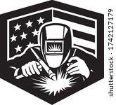 Welder Arc Welding Usa Flag...