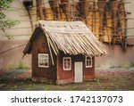 Toy Wooden House With A...