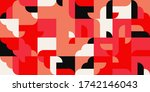 modern artwork of abstract... | Shutterstock .eps vector #1742146043