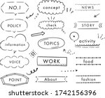 this is handwriting... | Shutterstock .eps vector #1742156396