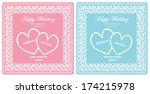 vector template for wedding... | Shutterstock .eps vector #174215978
