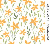 hand drawn decorative floral... | Shutterstock .eps vector #1742164106