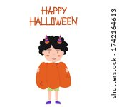 Cute Boy In Pumpkin Costume....