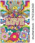 Love Poster  Psychedelic Art...
