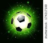 vector illustration of a soccer ... | Shutterstock .eps vector #174217100