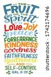 hand lettering the fruit of...   Shutterstock .eps vector #1742174696
