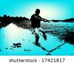 water ski   Shutterstock .eps vector #17421817