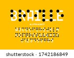 braille alphabet  letters and... | Shutterstock .eps vector #1742186849