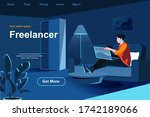 freelance job isometric landing ...