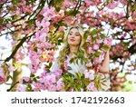 Spring Symbol. Girl Enjoy...
