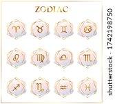 Zodiac Icons. Set Of Zodiac...