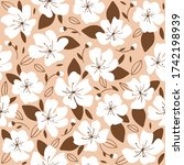 trendy seamless pattern with... | Shutterstock .eps vector #1742198939