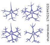 hand drawn neurons. neuron... | Shutterstock .eps vector #1742199323