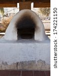 Outdoor oven or horno at San Juan Bautista Mission - stock photo