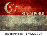 Republic of Singapore national flag, Vintage distressed version